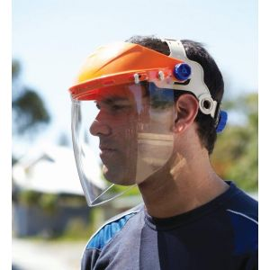 Assembled Browguard with Visor - Protective Eyeware